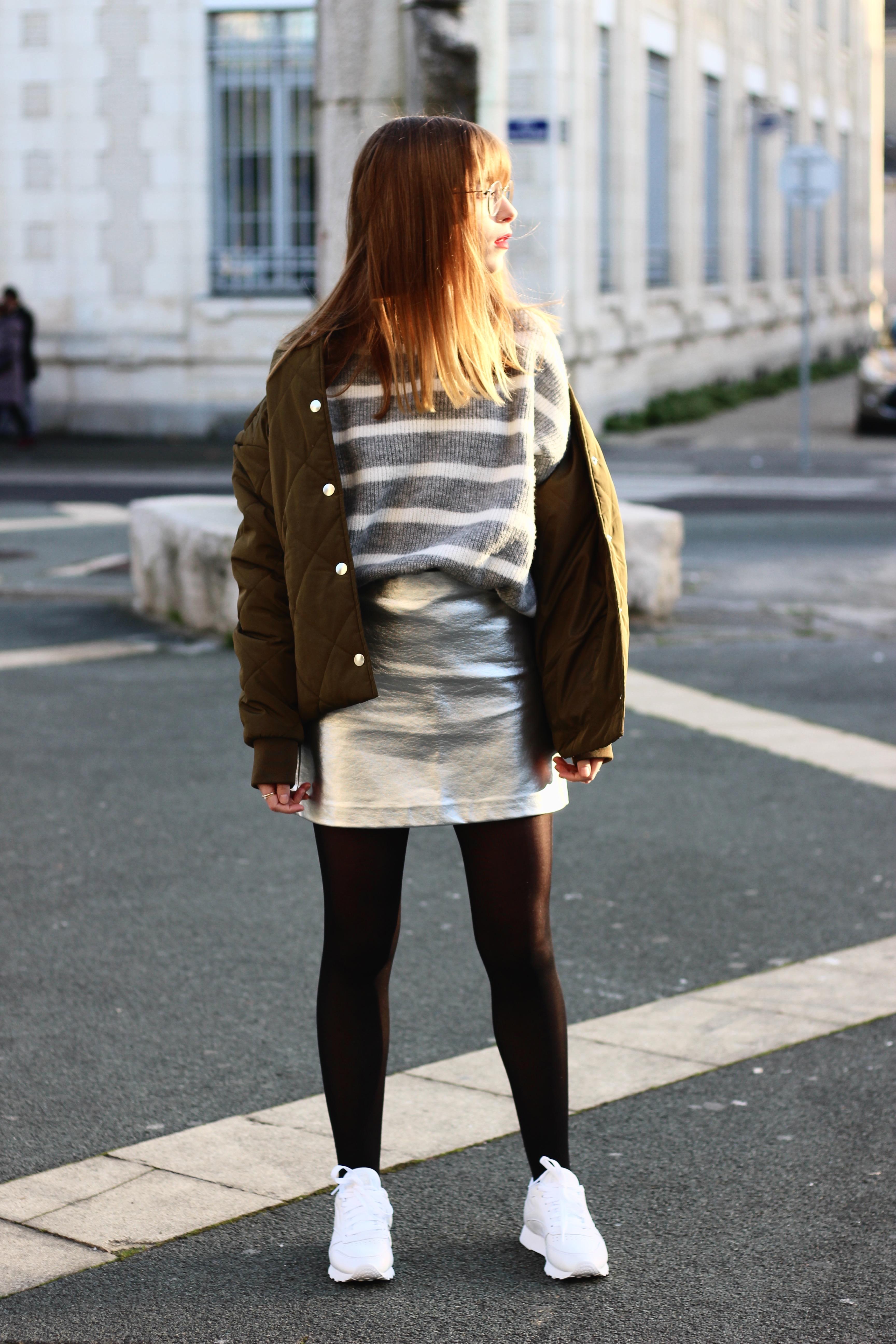 jupe argentée